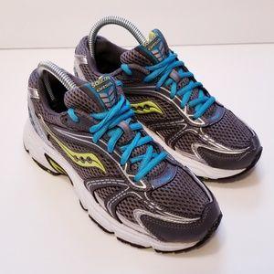 Saucony Oasis Sz 6.5 Gray/Blue Sneakers